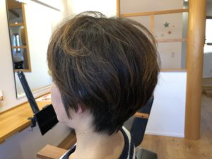 くせ毛でお悩みの方に対しての『ショートヘア』切り方説明「アフター」