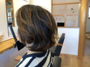 くせ毛でお悩みの方に対しての『ショートヘア』切り方説明「ビフォー」